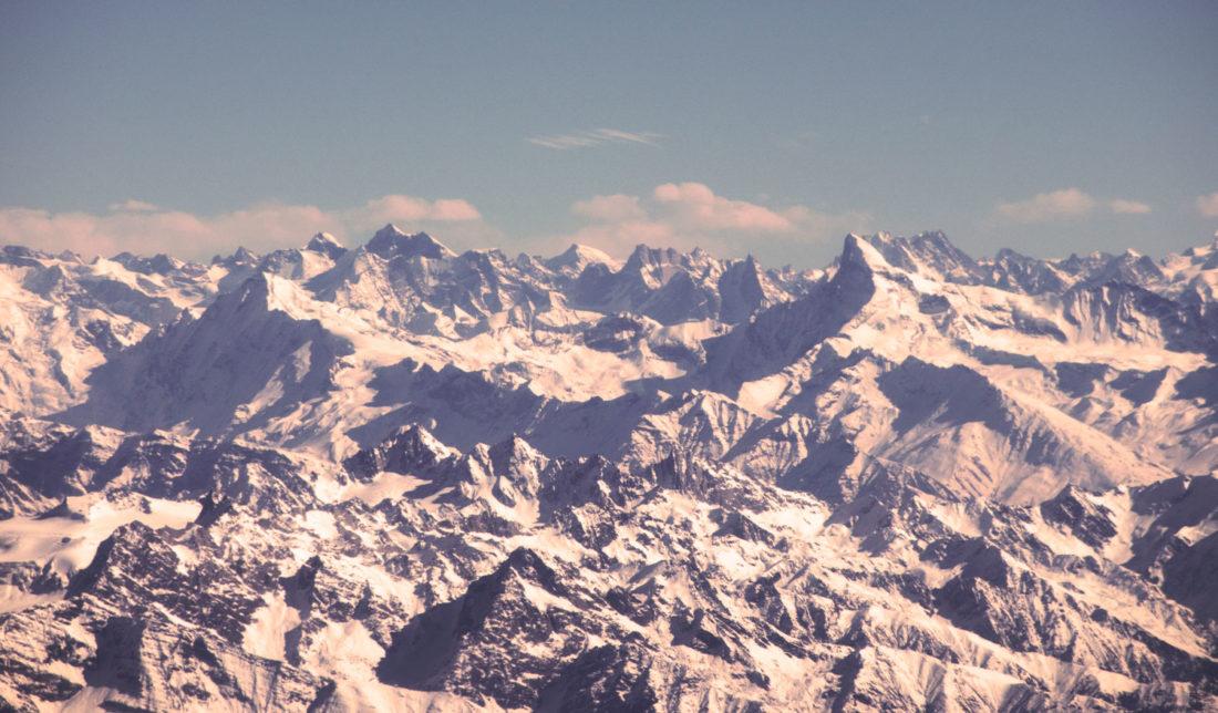 View from the flight to Srinagar from Delhi