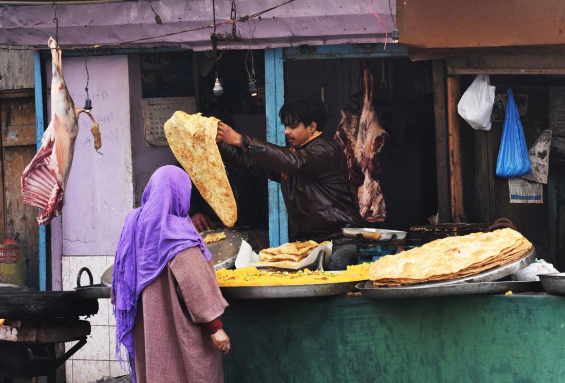 Roadside food in Srinagar